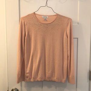 Calvin Klein, light pink sweater.